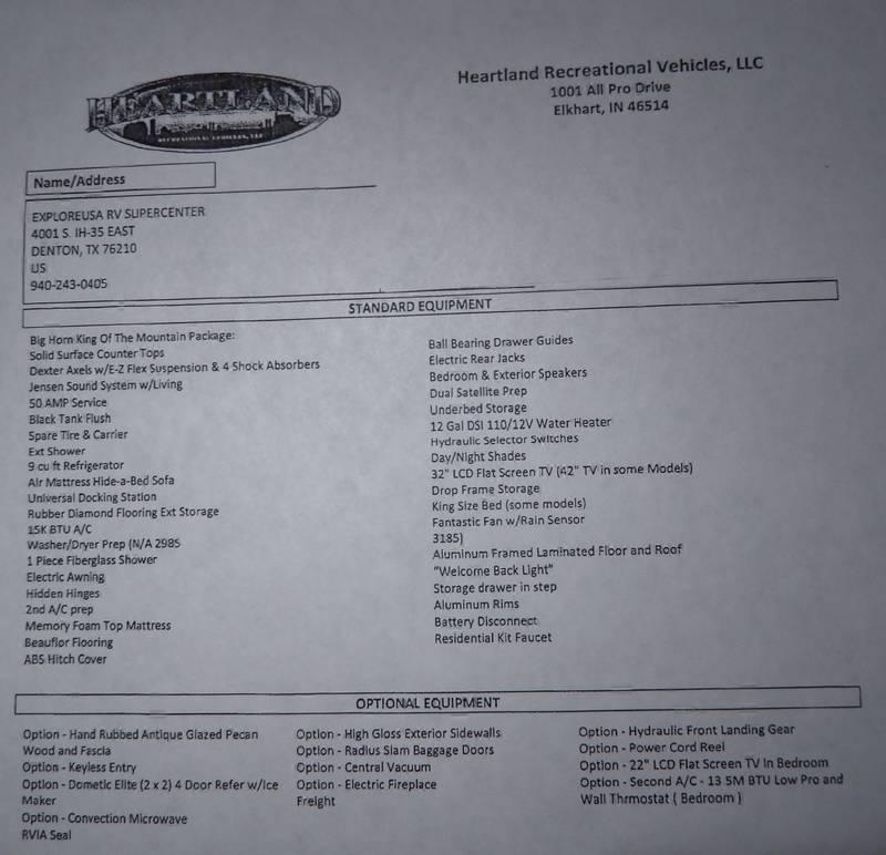 2012 Heartland Bighorn 3610RE