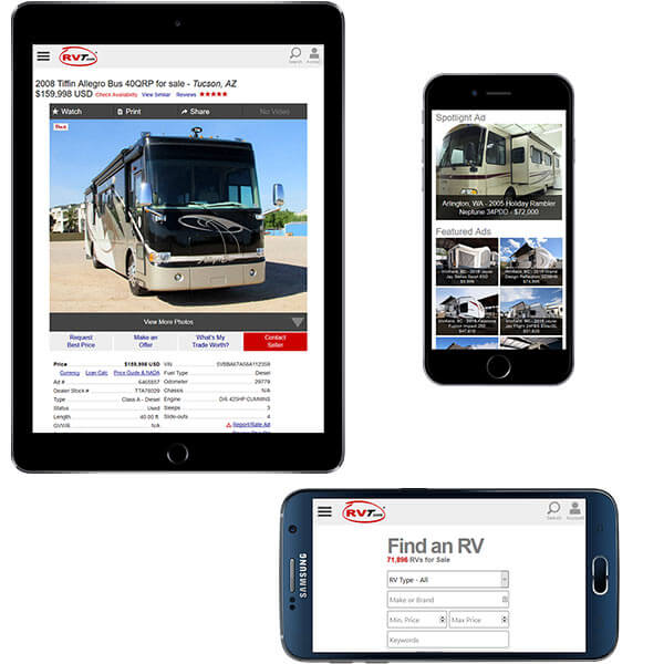RVT.com Mobile Web Site