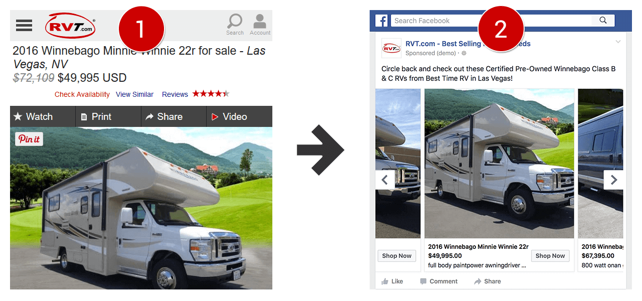 Facebook Dynamic Image Example