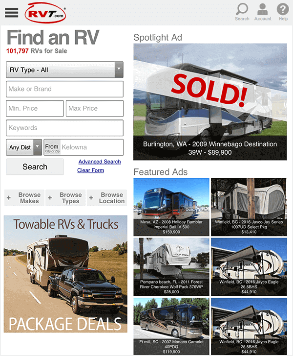 RVT.com Classifieds - Millions of RV Shoppers