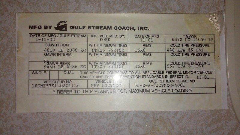 2002 Gulf Stream Sun Voyager