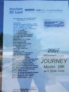 2007 Winnebago Journey 2007 WKP39K