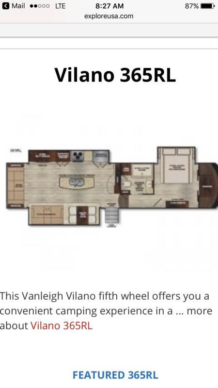 2016 Vanleigh RV Vilano 365RL