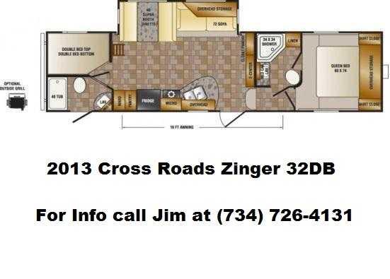 2013 CrossRoads Zinger 32DB