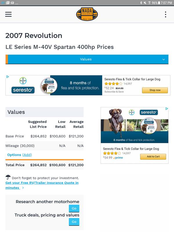 2007 Fleetwood Revolution LE 40V