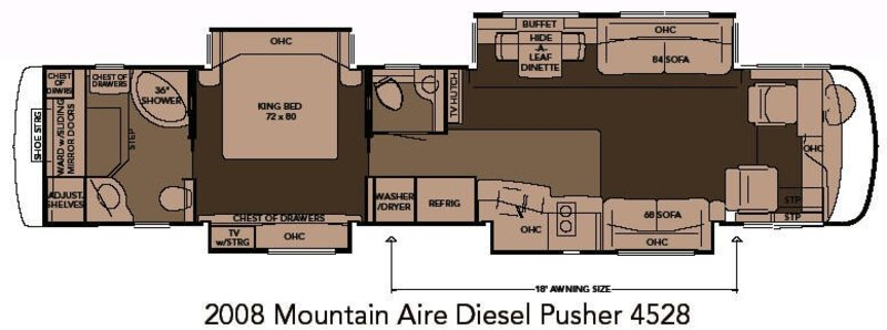 2008 Newmar Mountain Aire 4528